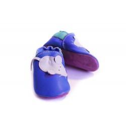 Soft slippers - mouse - denim
