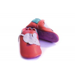 Soft slippers - mouse - rosso fueco