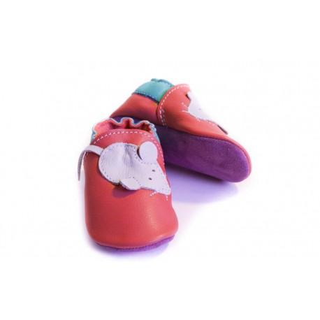 Capačky - myš - rosso fueco
