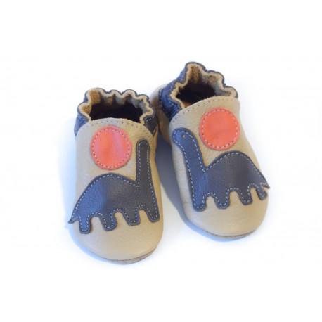 Soft slippers - dinosaur - savanna