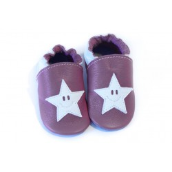 Soft slippers - star smile - bordo