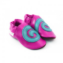 Soft slippers - spiral - fuxia