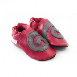 Soft slippers - spiral - santa claus