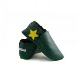 Chaussons - étoile au talon - avocado