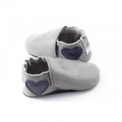 Soft slippers - heart to heel - perla