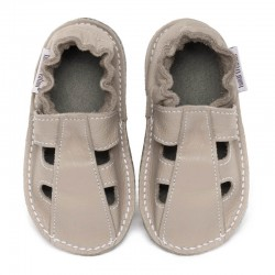 Summer leather shoes - cream