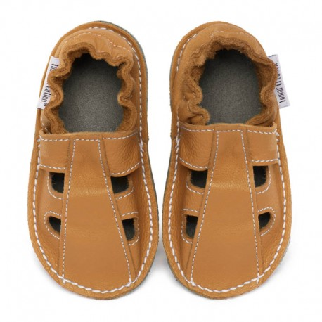 Summer leather shoes - savanna