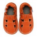 Summer leather shoes - volcanic