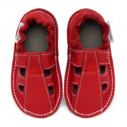 Summer leather shoes - santa claus