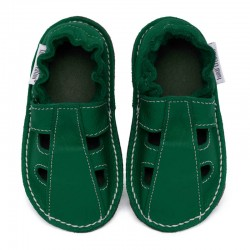 Summer leather shoes - avocado