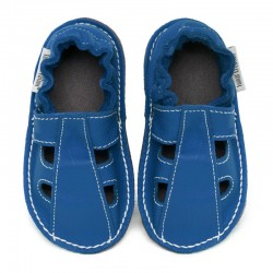 Summer leather shoes - jeans