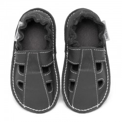 Summer leather shoes - fog