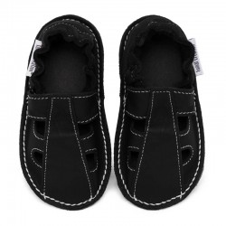 Summer leather shoes - nero