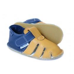 summer soft sole shoes - girasole blu marino