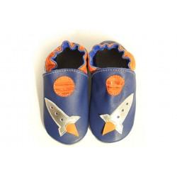 Soft slippers - rocket - denim