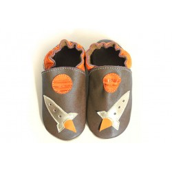 Soft slippers - rocket - taupe