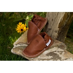 Organic leather shoes – coconut