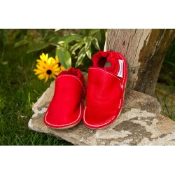 Organic leather shoes – feuerrot