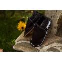 Organic leather shoes – schwarz