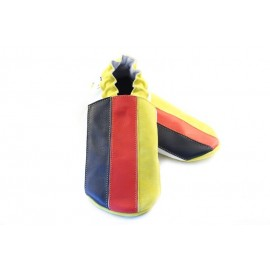 Chaussons cuir souple drapeau de l´Allemagne