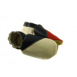 Chaussons cuir souple drapeau de la Tchéquie
