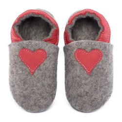 slippers made of 100% natural merino wool