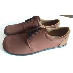 Lace-up barefoot shoes with biodegradable sole