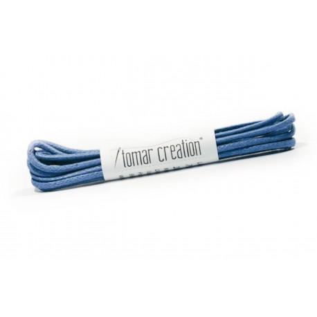 Bledo modré guľaté šnúrky