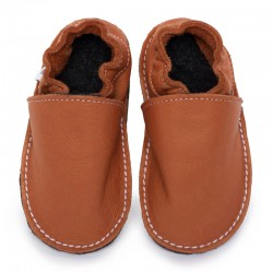 Soft sole shoes - brandy