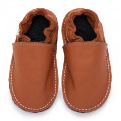 Soft sole shoes - brandy