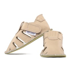 summer soft sole shoes - cream