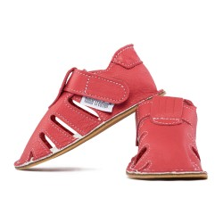 Capačky letné so suchým zipsom - rosso fueco