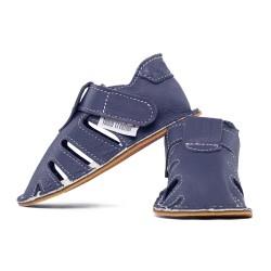 summer soft sole shoes - blu marino