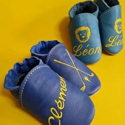 🇸🇰 personalizované papučky s menom dieťatka 👶🏼 🇫🇷 chaussons personnalisés avec le prénom des enfants 👶🏼#tomarcreation #papucky #capacky #chaussons #chaussonsbebe #barefootshoes #handmade #leatherslippers #slippers #personalizedgifts